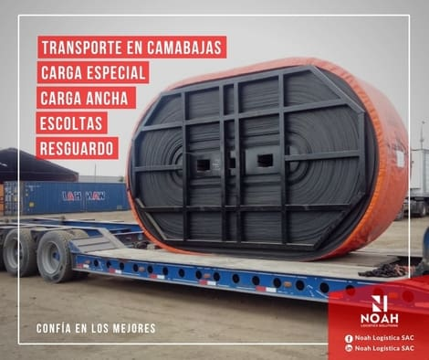 Transporte de carga sobre cama baja