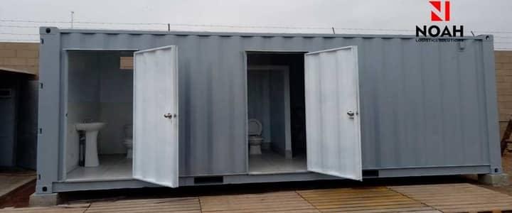 Contenedor fue adaptado a modulo de servicio higi higienico